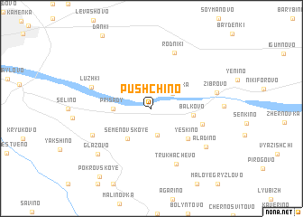 map of Pushchino