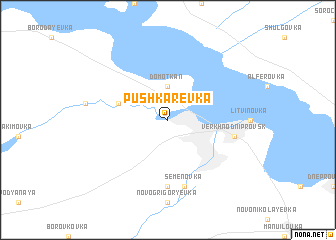 map of Pushkarëvka