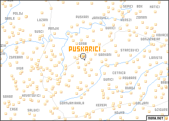 map of Puškarići