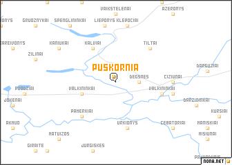 map of Puškornia