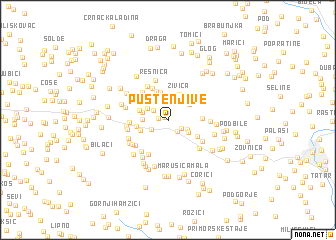 map of Puste Njive