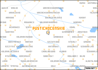 map of Pusti Choceńskie