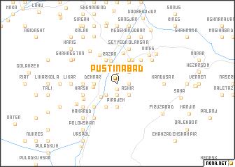 map of Pūstīnābād