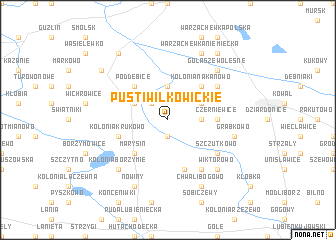 map of Pusti Wilkowickie