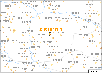 map of Pusto Selo