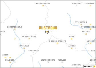 map of Pŭstrovo