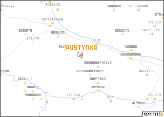 map of Pustynka