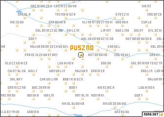 map of Puszno