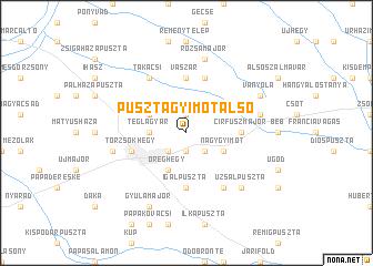 map of Pusztagyimót Alsó