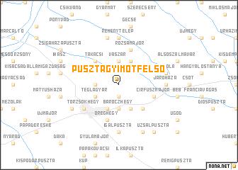 map of Pusztagyimót Felső