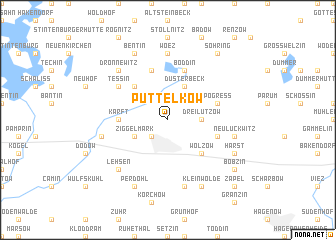 map of Püttelkow