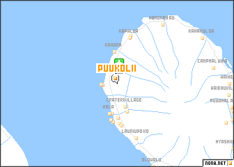 map of Puukolii