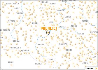 map of Puvalići