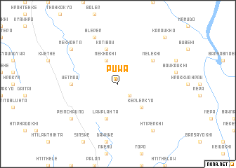 map of Puwa