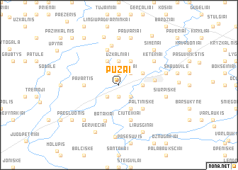map of Pužai