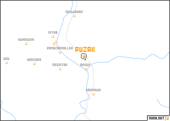 map of Pūzak