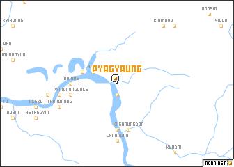 map of Pyagyaung