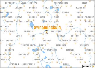 map of Pyindaunggwin