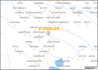 map of Pyinmalwin