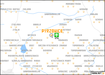 map of Pyrzowice