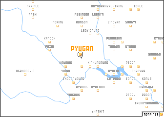 map of Pyugan