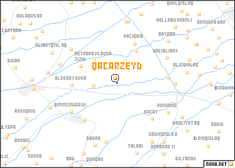 map of Qǝcǝr Zeyd
