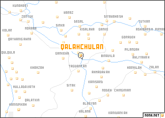 map of Qal'ah Chūlān