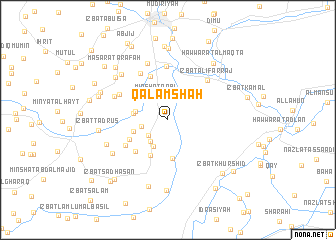 map of Qalamshāh
