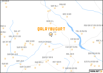 map of Qalaybuğurt