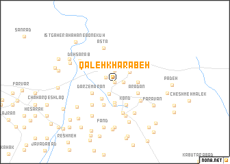 map of Qal'eh Kharābeh