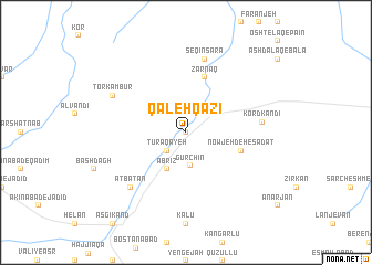 map of Qal'eh Qāẕī
