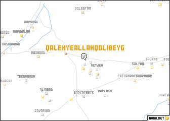 map of Qal'eh-ye Allāhqolībeyg