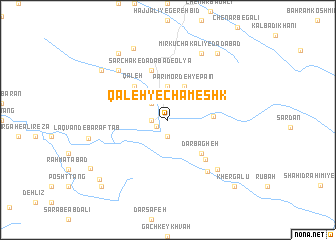 map of Qal'eh-ye Chameshk