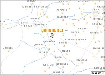 map of Qaraağacı