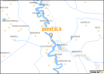 map of Qaraçala