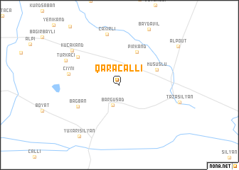 map of Qaracallı