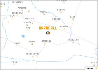 map of Qaracallı
