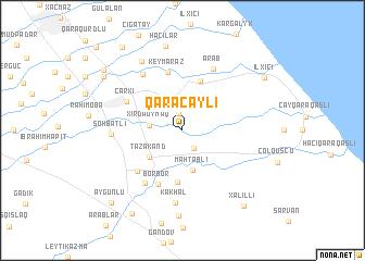 map of Qaraçaylı
