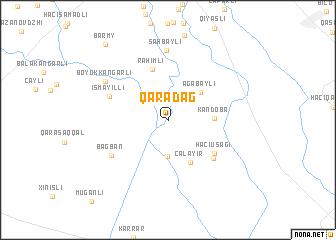 map of Qaradağ