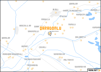 map of Qaradonlu