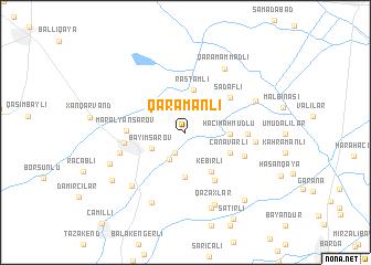 map of Qaramanlı