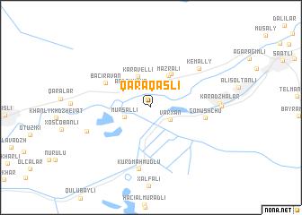 map of Qaraqaşlı