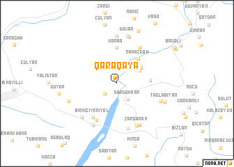 map of Qaraqaya