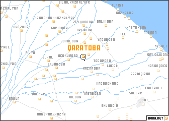 map of Qaratoba