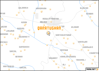 map of Qaratughān