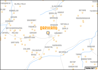 map of Qarıkǝnd