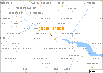 map of Qārqūlī Cham