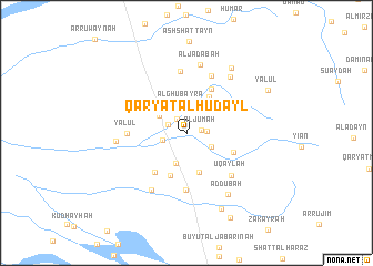 map of Qaryat al Hudayl