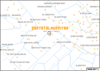map of Qaryat al Ḩurrīyah