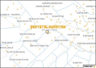 map of Qaryat al Ḩurrīyah